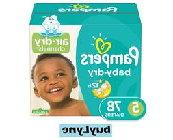 Pampers Baby-Dry Disposable Diapers Size 5, 78 Count