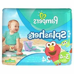 Pampers Splashers Disposable Swim Diapers, Size 3/4, 24 Coun