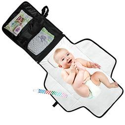 Portable Diaper Changing Pad - Waterproof with Built-in Head