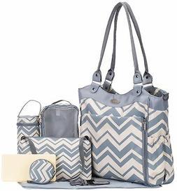 SoHo diaper bag Louvre 9 pieces nappy tote travel bag for ba