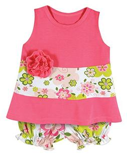 Stephan Baby A-Line Top and Bloomer Style Diaper Swirly Flow