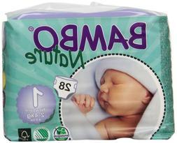 Abena Bambo Nature Premium Baby Diapers, Newborn, Size 1, 28