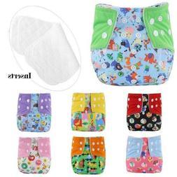 Adjustable Reusable Baby Washable Cloth Diaper Infant Cartoo