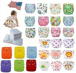 Adjustable Reusable Baby Washable Cloth Diaper Nappies Lot 5