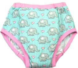 Adult training pant Baby Elephants print diaper incontinence