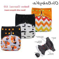 Ohbabyka All-In-One AIO Cloth <font><b>Diaper</b></font> for