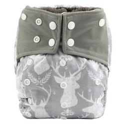 All In One Baby Cloth Diaper Nappy Charcoal Insert Night,Reu