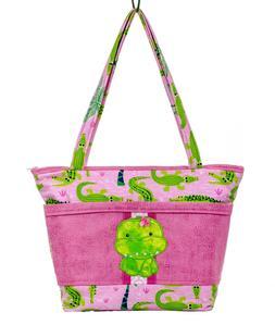 Alligator Diaper Bag, Crocodile Tote, Newborn Girl Gifts, Ha