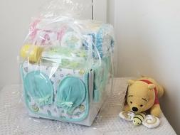 Alphabet Baby Block Diaper Cake Baby Shower Gift Set Basket