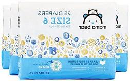 Amazon Brand - Mama Bear  Diapers Size 6 100 Count Bears Pr