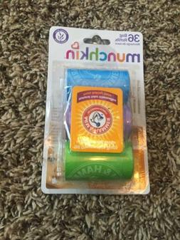 Munchkin Arm and Hammer Diaper Bag Refill, 36 Bags - NEW 3 P