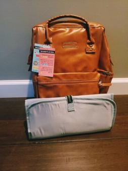 Ash & Parker Insulated Vegan Leather Diaper Backpack
