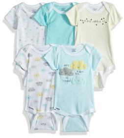 Gerber Baby 0-3 Months 5-pack Short-sleeve Onesies Bodysuits