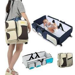 Baby 3 in 1 Travel Diaper Bag Portable Bassinet & Basket Cha