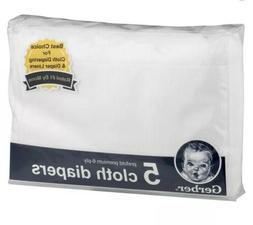 Gerber Baby and Infant 5pk Prefold Premium 6-ply Cotton Clot