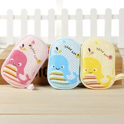 Cute Baby Bath Sponge Loofah Infant Shower Product Soft Baby