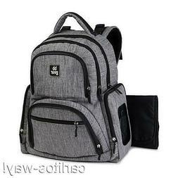 Stevens Baby Boom Diaper Bag Travel Backpack 13 Pockets Blac