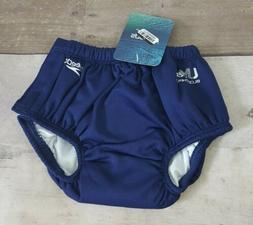 Speedo Baby Boys' Shark Reusable Swim Diapers Navy Size M 6-
