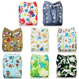 Baby Children Cartoon Diapers Pants Reused Washable w/ Dispo