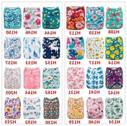 ALVA Baby Cloth Nappies Printing Adjustable Reusable Pocket