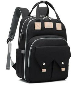 Baby Diaper Bag Backpack for Mom with USB Charging Port
