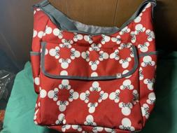 baby diaper bag Disney Minnie mouse bottle holder tote red c