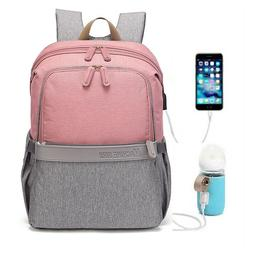Baby Diaper Bag USB Charging Port Maternity Nappy Baby Backp