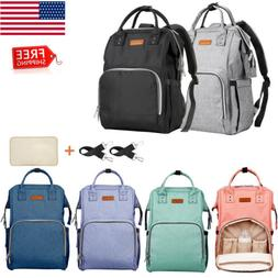 Baby Diaper Bag Waterproof Mummy Daddy Nappy Travel Backpack