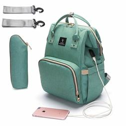 Baby Diaper Bag With USB Interface Nappy Bag Kits Mummy Back