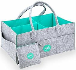 XL Baby Diaper Caddy Organizer with FREE Pouch - Nursery Org