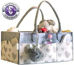 LITTLEGEM4U Baby Diaper Caddy Organizer - Stress-Free Diaper