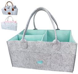 Baby Diaper Caddy Organizer - Baby Shower Gift Basket For Bo