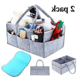 Baby Diaper Caddy Organizer - 2 Pack Diaper Organizers  for