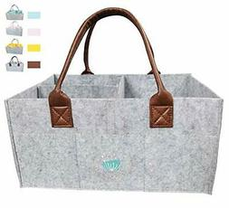 Baby Diaper Caddy Organizer: Large Organizer Tote Bag for Bo