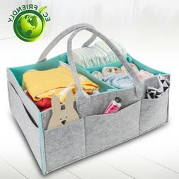 Baby Diaper Caddy Organizer Nursery Storage Bin for Diapers