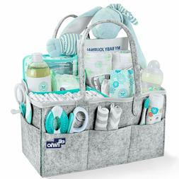 Baby Diaper Caddy Organizer - Portable Large caddy, divider