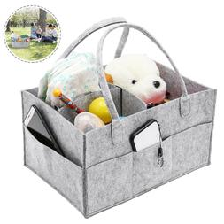 Baby Diaper Caddy Organizer - Portable Storage Nursery Tote