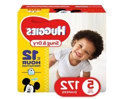 Baby Diaper - Huggies Snug & Dry Diapers, Size 5, 172 Count,