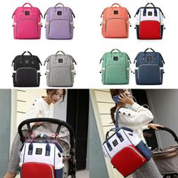 Baby Diaper Nappy Mummy Changing Bag USB Backpack Multi-Func