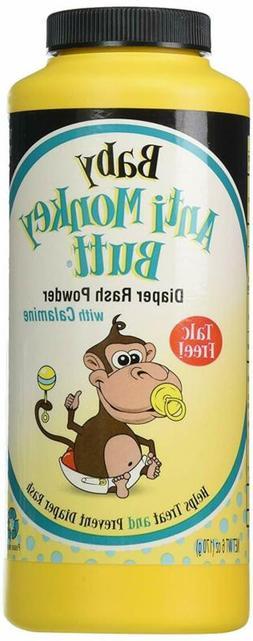 Baby Anti-Monkey Butt Diaper Rash Powder, 6Oz. Bottle - 3 Pa