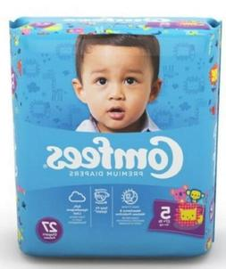 Baby Diaper Comfees TabClosure Size 5 Disposable Moderate Ab