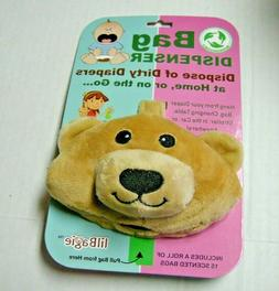 Baby Diaper Waste Bag Dispenser By Lil Bagie, Bear Theme, In