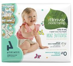 Seventh Generation Baby Diapers #4 Animal Design Sensitive S