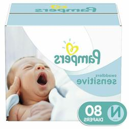 Baby Diapers Newborn Size 0 Pampers Swaddlers Sensitive Disp