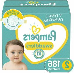 Baby Diapers Size 2 , 186 Count - Pampers Swaddlers