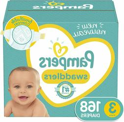 Baby Diapers Size 3 , 168 Count - Pampers Swaddlers