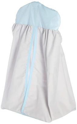 Baby Doll Bedding Solid Two tone Diaper Stacker, Grey/Blue
