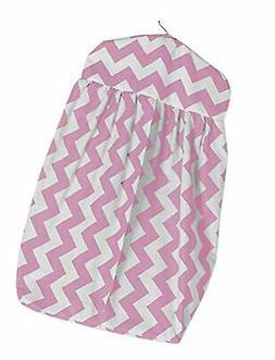 Pink BabyDoll Chevron Dot Diaper Stacker