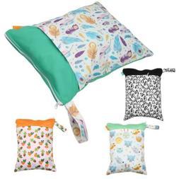 Baby Double Zipper Diaper Bags Waterproof Maternity Washable