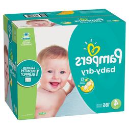 Pampers Baby Dry Diapers  Size 4  *Free Priority 2 day Ship